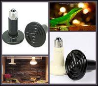 Wholesale 40Pcs W Reptile pet appliances flat type Infrared Ceramic heat lamp V V Reptile pet amphibian poultry F404