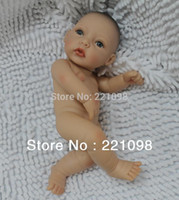 """Unisex Birth-12 months Vinyl Wholesale-Free Shipping 2013 Reborn Baby Dolls Silicone Vinyl Super Simulation 12"""" Baby Doll Real Like Babies Toys Mini"""