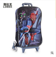 Wholesale 4 styles D spiderman trolley bags kids drawstring bag school backpack boys children spider man traver bags kid school frozenC425