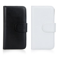 For Apple iPhone PU (Faux) leather White Fashion Wallet Case Flip Leather Stand Cover with Card Slot Holder for iPhone 5 5s Two Colors PA1551