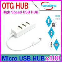 2-4 USB 2.0 12Mbps DHL 100PCS High Speed Micro to USB 4 Ports OTG Hub Splitter Adapter for SAMSUNG phone and Micro-USB OTG Function Phone tablet pc YX-LZ-24