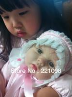 "Unisex Birth-12 months Vinyl Wholesale-22"" Reborn baby dolls Silicone vinyl doll kits Soft Toys Hot dolls for girls handmade doll Children's Day gift"