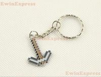 Wholesale 20x Minecraft Diamond Pickaxe Metal Key Chain Keyring Key Ring Gray Silver