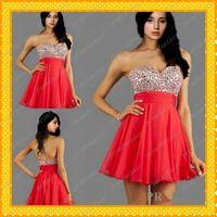Hot Red Chiffon Short Homecoming Dresses Under 100$ 2015 Bli...