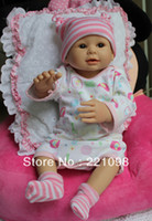 Unisex Birth-12 months Vinyl Wholesale-Free shipping Hot Sale Russian toys 50cm 20 inch lifelike reborn baby doll handmade silicone vinyl collection toys soft doll