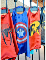 Poncho batman robin cartoons - Party cosplay SUPERHERO CAPES Superman Batman Spider man Supergir Spidergirl Batgirl Flash Robin Halloween DHL fast ship