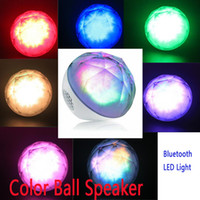 2 Universal HiFi 20pcs DHL newest Mini Magic Color Ball Bluetooth Hands-free subwoofer sound box with LED colored lights remote control TF card C1