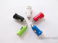 Wholesale 003 Mini Car Charger for Iphone GS SConvertable General Home Car Cigarette lighter Socket Car LED Screen Splitter Adapter
