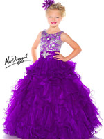 Reference Images Girl Beads Tank Strap Luxury 2014 Hot Teens Girl's Pageant Dresses Purple Crew Neck Organza Crystal Jewel Floor Length Formal Flower Girl Ball Gowns