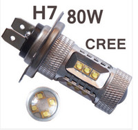 Wholesale 2pcs W H7 High Power cree Xenon White Headlight Led Vehicles Car Fog Lights Bulbs H4 HB3 HB4 H7 H8 H11 H16