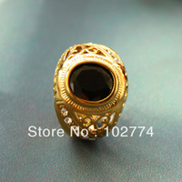 Couple Rings Women's Engagement Classic black stone ring rings gold plated ring romance1320043