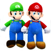 3-4 Years baby luigi plush - 1PCS High Quality Super Mario Soft Plush MARIO LUIGI quot SUPER MARIO BROSS PLUSH DOLL Baby Toy Plush Toys