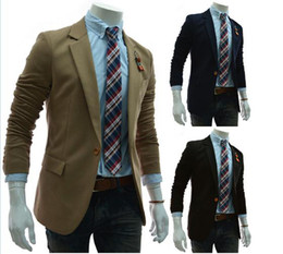 Wholesale Brand New Fashion men s contracted a grain of buckle men s suits fashion casual men s high quality small suit