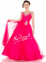 Reference Images Girl Beads Off Shoulder Cheap Luxury 2014 New Teens Girl's Pageant Dresses Hot Pink Tulle Crystal Jewel Floor Length Formal Flower Girl Ball Gowns