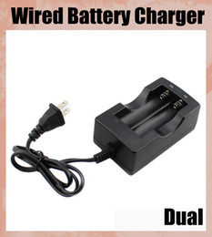 Wired Dual Battery Charger 2 Lithium Battery EU US For 18650 Rechargeable Lithium Ion Li-Ion 3.6V 3.7V Battery FJ014
