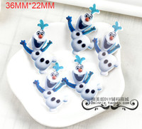 Resin Yes JOY 100pcs lot New style Frozen move Olaf Inspired Plastic resin flatback Cabochon Embellishment Hair bow Center RET77