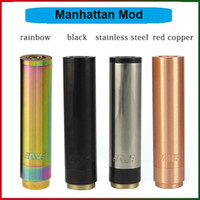 Wholesale 1 Manhattan Mod Clone Top Quality Mech Mods Rainbow Red Copper Mod Electronic Cigarettes Newest Full Mechanical Mods