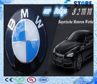 Wholesale Top Quality BMW mm Normal Blue White or Black White Emblem Badge Hood Front Rear Trunk Logo For Car Auto Fast Delivery J