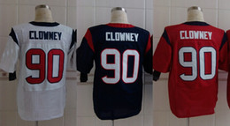Wholesale NEW season top quality Cheap Texans american football jerseys Clowney black white red men s Elite jerseys