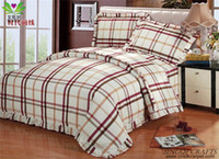 hand wash massage bed - New Original Classic Plaid Bedding Hand woven Cotton Bed Sheet Sets Multi Color Ventilate Massage Function Twin Full Queen King Size zz4003