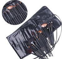 32 pcs hair brush set - 32pcs Professional Makeup Brushes make up Cosmetic Brush Set Kit Tool Roll Up Case eyeliner lipbrush Foundation Brush ETC Soft Goat Hair