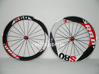Wholesale NEWEST FASHION mm S60 mm S80 Alloy carbon road bike wheels Clincher mm c road bicycle wheelset with Aluminum Brake surface