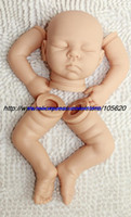 Unisex Birth-12 months Vinyl Wholesale-20 inch Reborn Baby Doll Kit Silicone Vinyl Soft Dolls parts2013 2014 Wholesales 2014 New Freeshipping