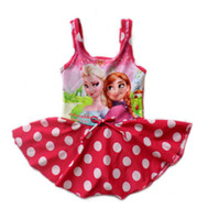 Girl One-piece 3T-4T Skirt style swimsuit Baby Girl Frozen Swimsuit Beach Supplies Anna Elsa Beach Swimsuit One Piece Swim Bodysuit Bathing Suits Girl One Piece