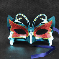 Wholesale Butterfly paintball mask gold shining plated party masks Halloween children masquerade mardi gras mask DHL UPS Fedex