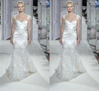 Wholesale SSJ Stunning Mermaid Wedding Dresses V Neck Cap Sleeves Crystal Sequined Pnina Tornai Bridal Gowns babybride D2402