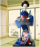 oriental statues - Oriental Broider Doll Japanese Old style figurine Japanese doll statue J11