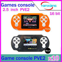 Wholesale DHL Inch bit Handheld game player New PVE2 Portable Video Game Console TFT LCD free game card YX PV
