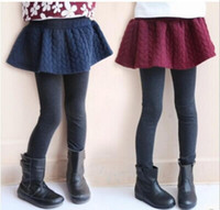 Wholesale baby girls culottes children korean style pure color leggings girl patchwork tights kids fashion clothing JL
