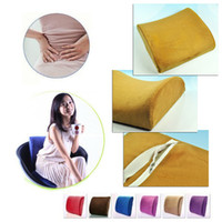 Neck Pillow Red Leather Home Office Car Seat Chair Memory Foam Lumbar Back Support Relief Cushion Pillow Free Shipping