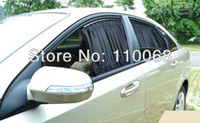 Wholesale 2PCS Plus L size Luxury VIP Black Velvet Car Window Curtain Sun Shade Visor cm X cm
