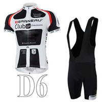 Wholesale 2014 Newest GARNEAU Club Cycling Jersey Sets Breathable Close fitting Bicycle Clothings Men Summer Cool Classical Wears for sale