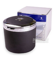 aluminum ashtray - High quality Original Portable Vehicle Ashtray Car Tobacco Special For With Peugeot Logo