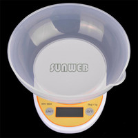 Wholesale 4pcs New Big Sale kg g Digital Electronic Kitchen Scale Weight Scales Balance With Bowl Cooking Tools b4 SV005454