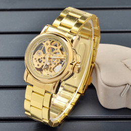 New Arrival MCE Men watch,Luxury Style gold Skeleton Automatic mechanical watch for men MC25