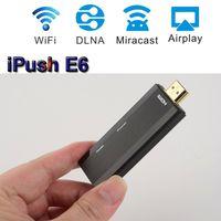 HDMI   30PCS Realtek E6 Mini WIFI Airplay iPush TV Stick Linux TV Dongle DLNA Miracast for Windows IOS Android Mirror Auto Switch OTA Media Player