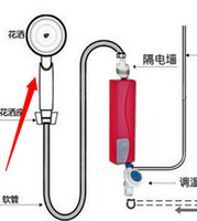 electric water heater - Flower tankless heater small casserole hot water po over the water heat heated electric water heater small simple shower