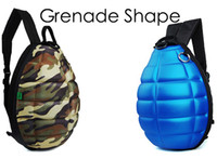Wholesale Womens Mens Grenade Shape Cross Body Bags Novelty Canvas Fashion designer Bag Leather Laptop Cartoon Backpack On Sale Free UPS Factory Price