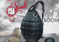 Cross Body leather bag factory - Womens Mens Grenade Shape Cross Body Bags Novelty Canvas Fashion designer Bag Leather Laptop Cartoon Backpack On Sale Free DHL Factory Price