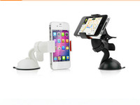 ABS car gps stand - 25pcs Universal Windshield Degree Rotating Car Mount Bracket Holder Stand for iPhone Samsung Cellphone GPS MP4 PDA table Car Holder