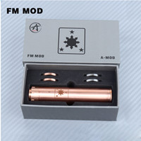 Wholesale Hot single battery tube copper fm mod thread rda rba atomizer available mm diameter mechanical mod clone gift box