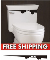 Wholesale Toilet Monster Funny Bathroom Seat Decor Removable Vinyl Sticker Wall Decal DIY