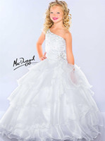Girl sugar white sugar - White Hot One Shoulder Sugar Teens Girl s Pageant Dresses Organza Crystal Sequins Jewel Floor Length Formal Flower Girl Ball Gowns