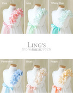 Other Model Pictures Scoop LiNg's Ivory Cream Lace Organza Wedding Cotton Flower Girl Dress with Hydrangea Strap - For Children Toddler Kids Teen Girls