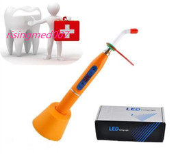 Wholesale Big discount Orange Dental W Wireless Cordless LED Curing Light Lamp mw For Dentist