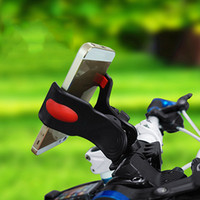 black, white retail package Universal Black Universal Bike Mount Holder Bicycle Handlebar Mount Flexible Holder for iphone 5 5S 4 4S Galaxy Mobile Phones